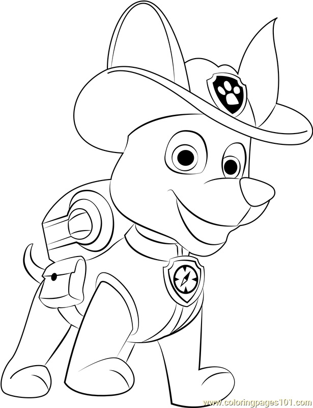 Tracker Coloring Page - Free PAW Patrol Coloring Pages ...