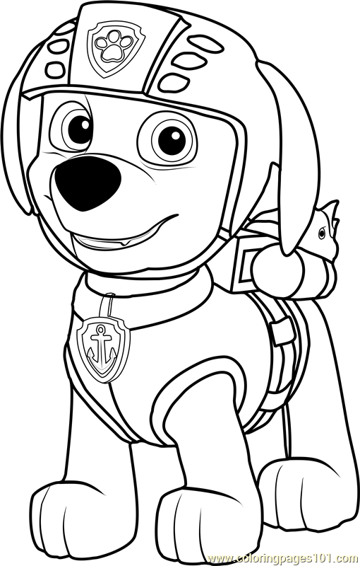 Zuma Coloring Page Free Paw Patrol Coloring Pages