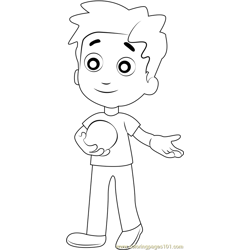 Alex Porter Free Coloring Page for Kids