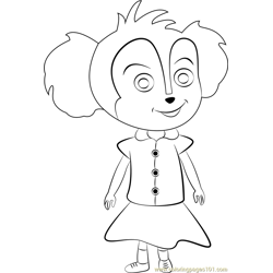 Baby Mer Pup Free Coloring Page for Kids