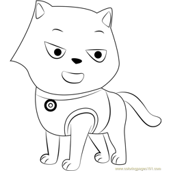 Cat Marshall Free Coloring Page for Kids