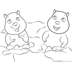 Gophers Free Coloring Page for Kids