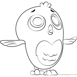 Little Hootie Free Coloring Page for Kids