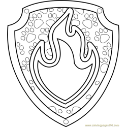 Marshall Badge Free Coloring Page for Kids