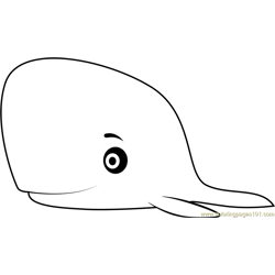 Mother Whale Free Coloring Page for Kids