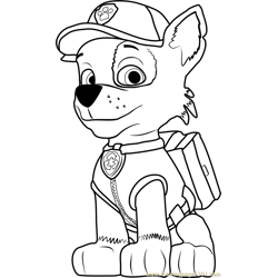 Rocky coloring page