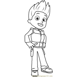 Ryder coloring page