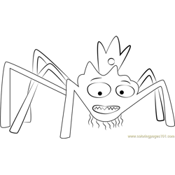 Spider King Free Coloring Page for Kids