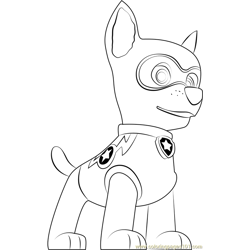 Super Chase Free Coloring Page for Kids
