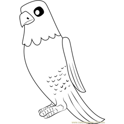 The Eagle Free Coloring Page for Kids
