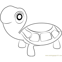 The Turtles Free Coloring Page for Kids