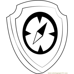 Tracker Badge Free Coloring Page for Kids
