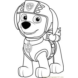 Rubble Badge Coloring Page Free