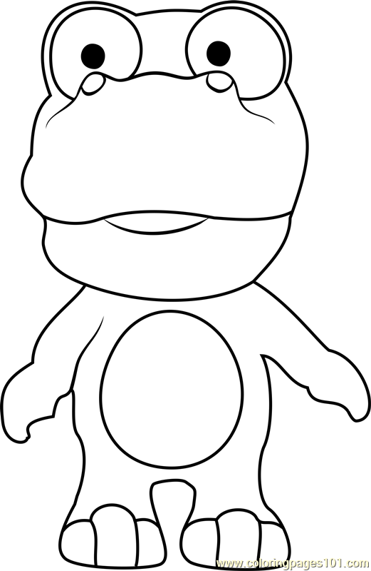 Crong Coloring Page Free Pororo