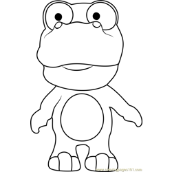 Crong Free Coloring Page for Kids