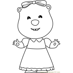 Loopy coloring page