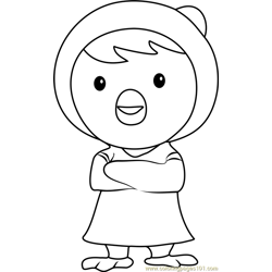 Petty Free Coloring Page for Kids