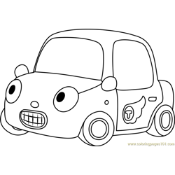 Tu-tu Free Coloring Page for Kids
