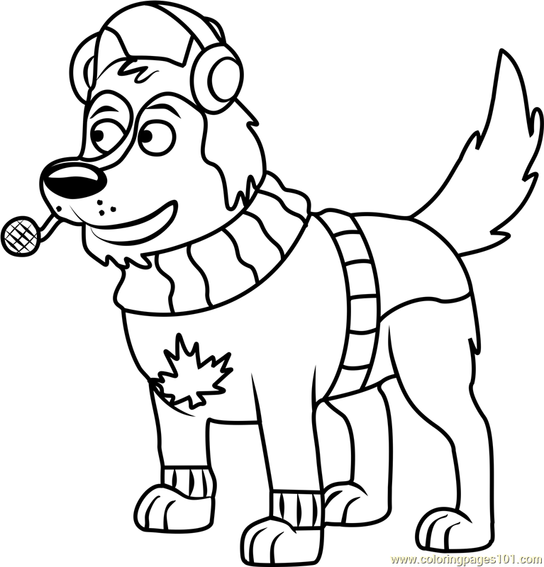 Pound Puppies Agent Todd Coloring Page Free Pound Pound Puppies Coloring Pages