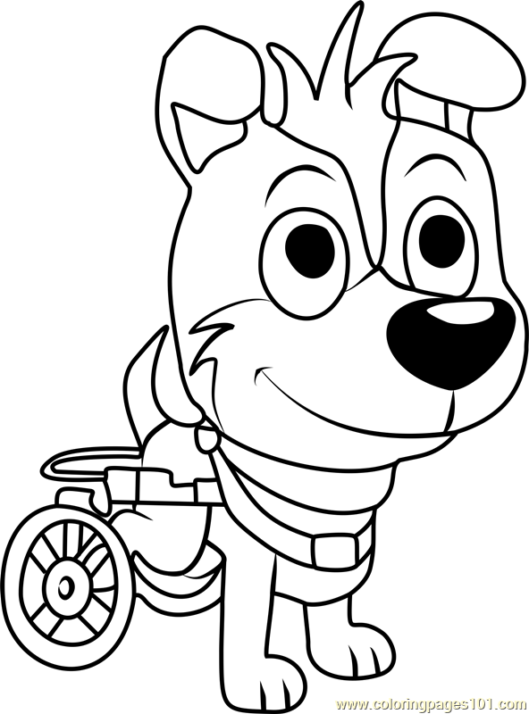 Pound Puppies Axel Coloring Page
