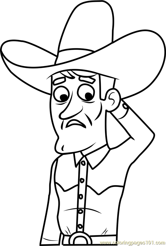 Pound Puppies Banjo Player Coloring Page