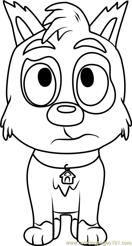 Pound Puppies Boots Coloring Page