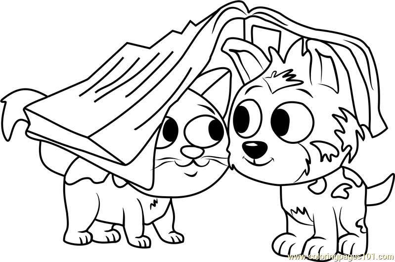Pound Puppies Bumper Coloring Page Free Pound Puppies