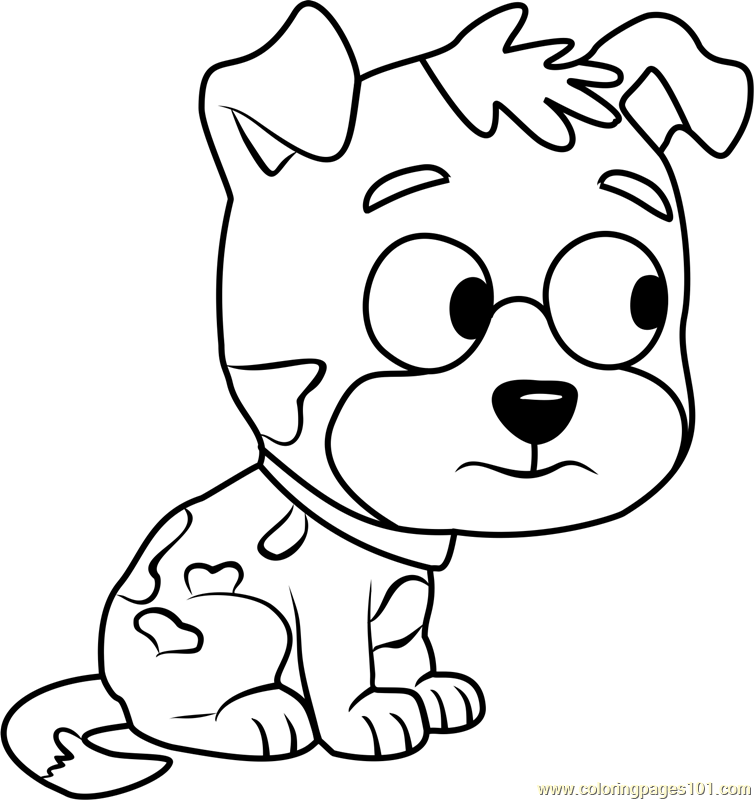 Pound Puppies Camelia Coloring Page Free Pound Puppies