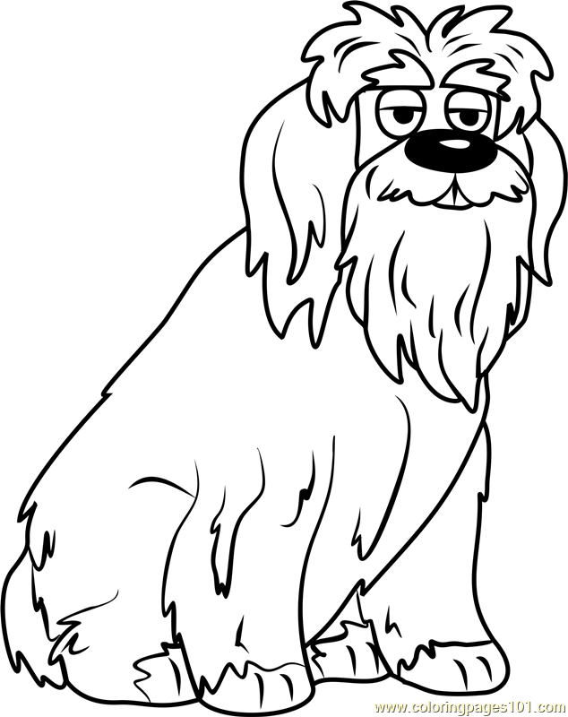 pound puppies chris jingles coloring page