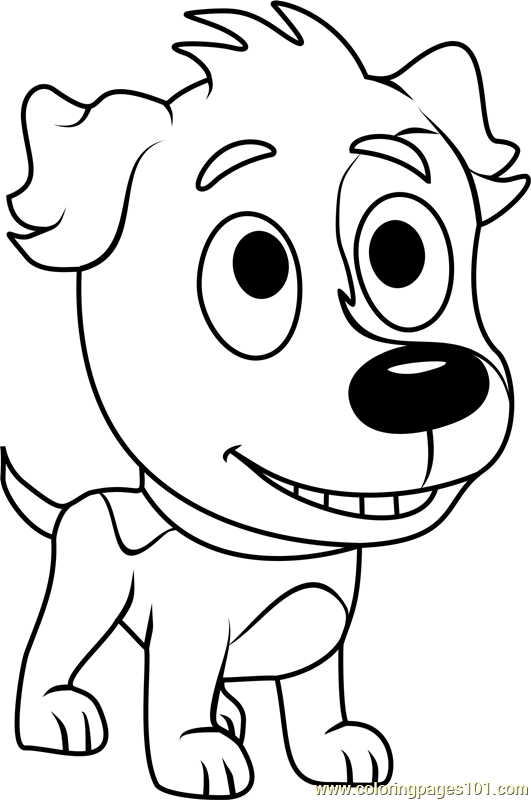Pound Puppies Clover Coloring Page