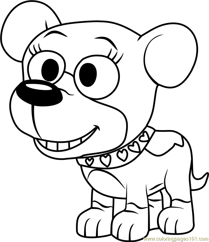 Pound Puppies Cupcake Coloring Page