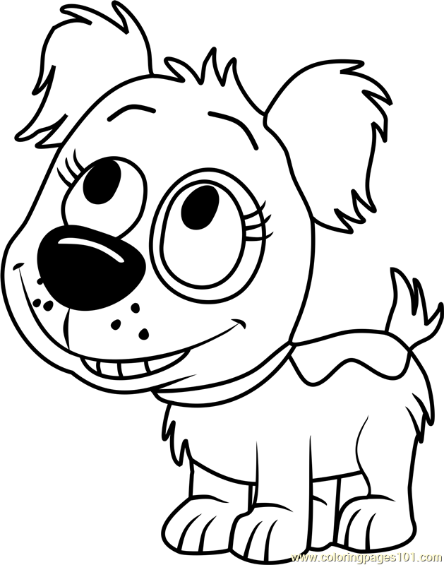 Pound Puppies Dinky Coloring Page Free Pound Puppies