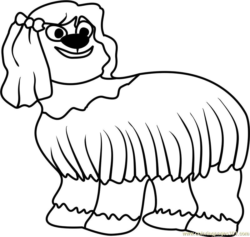 Pound Puppies Giblet Coloring Page