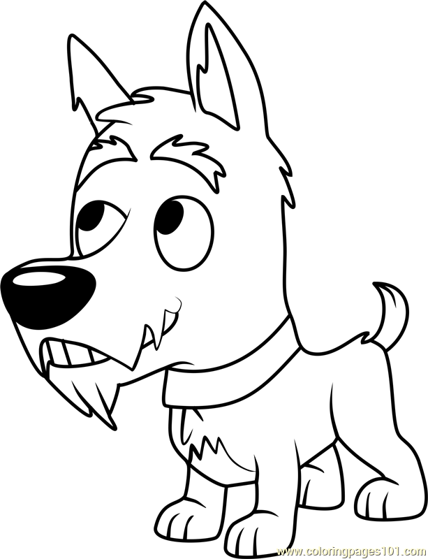 Pound Puppies Jackpot Coloring Page