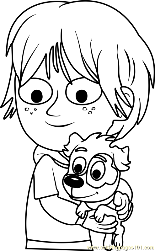Pound Puppies Joey Coloring Page