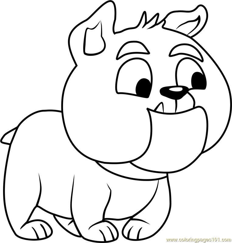 Pound puppies marshmallow coloring page free pound for Pound puppies coloring pages