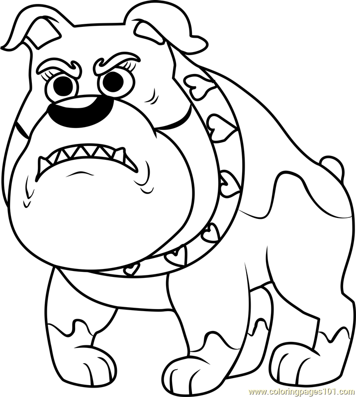 Pound Puppies Miss Stiffwhiskers Coloring Page