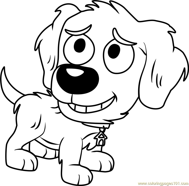 Pound Puppies Noodles Coloring Page Free Pound Puppies