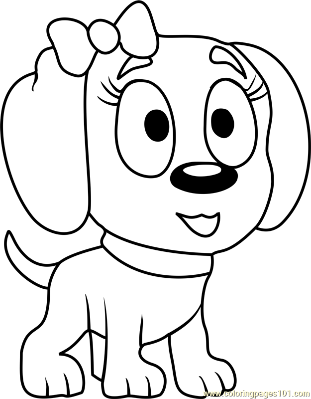 Pound Puppies Nutmeg Coloring Page