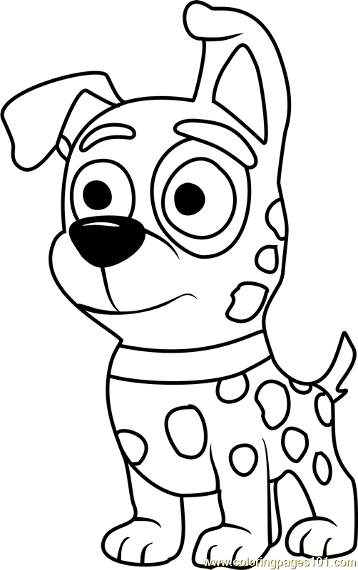 Pound Puppies Patches Coloring Page Free Pound Puppies