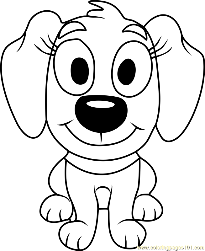 Pound puppies piper coloring page free pound puppies for Pound puppies coloring pages