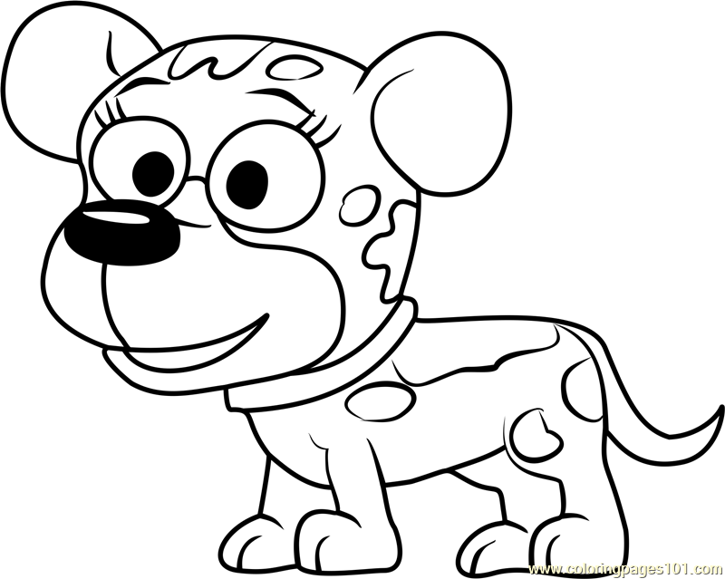 Pound Puppies Pooches Coloring Page
