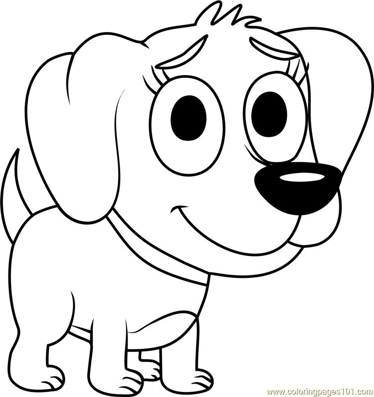 Pound Puppies Poopsie Coloring Page