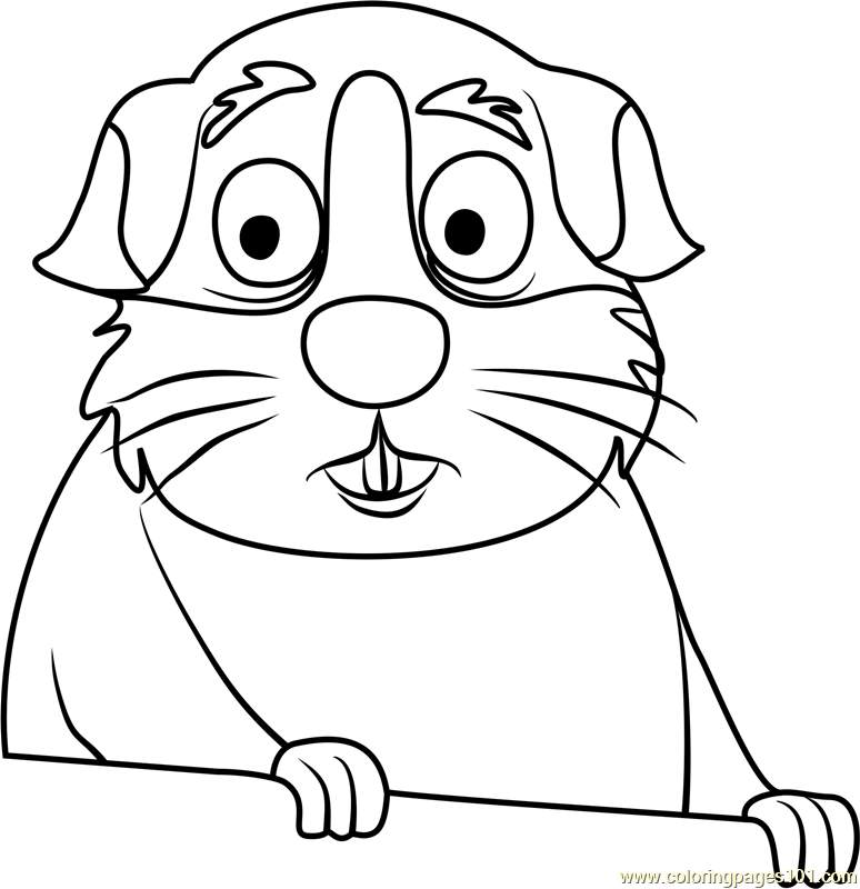Pound puppies prince fudgiepaws coloring page free pound for Pound puppies coloring pages