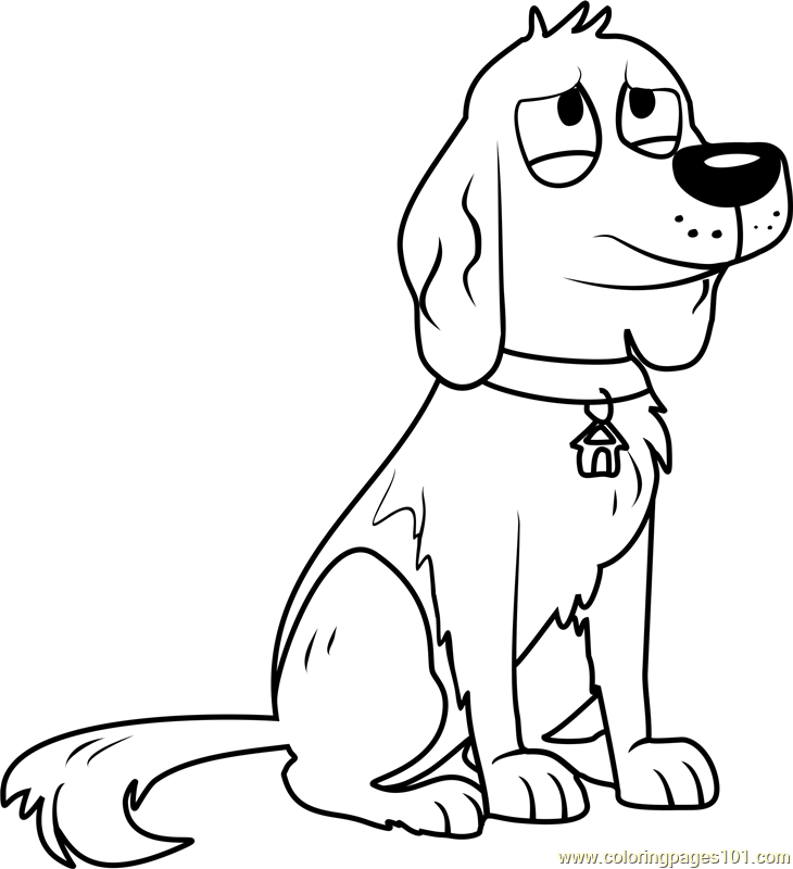 Pound Puppies Ralph Coloring Page Free Pound Puppies