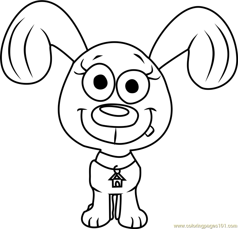 Pound Puppies Rebound Coloring Page Free Pound Puppies