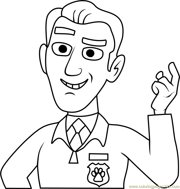 Pound Puppies Robert Netter Coloring Page