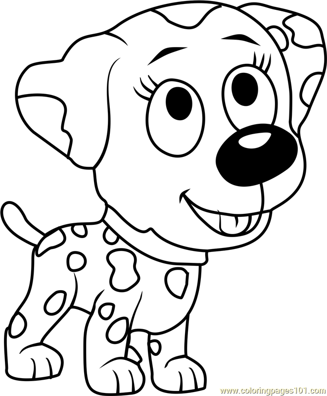 Pound Puppies Roxie Coloring Page Free Pound Puppies