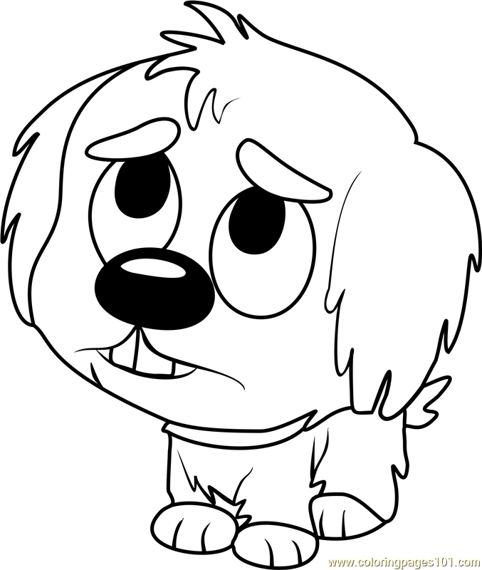 Pound Puppies Shaggles Coloring Page