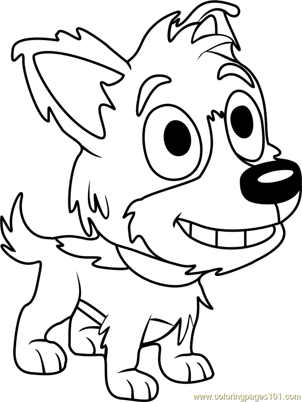 Pound Puppies Solo Coloring Page